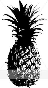 black and white pineapple png. hawaiian pineapple clipart black and white png h