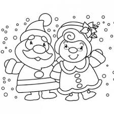 Small Picture Mr Mrs Claus Coloring Page Free Christmas Recipes Coloring