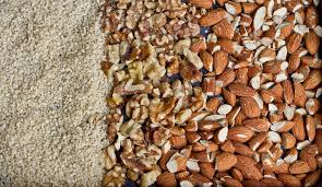 Sesame seeds, Almonds