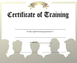 free training completion certificate templates free training certificate template for word of microsoft blank