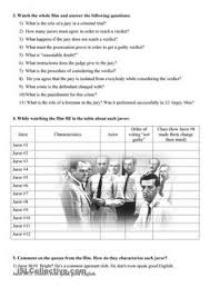 twelve angry men act discussion questions and answer key from the  twelve angry men video guide