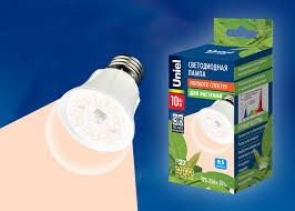 Светодиодная фито-<b>лампа</b> для растений <b>Uniel LED</b>-A60-10W ...