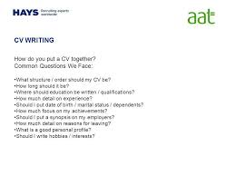 Cv Writing Personal Interests