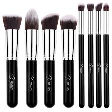 bestope 8 pieces makeup brush set in stan