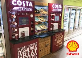 Costa Vending Machines Cool Shell Deli 48 Go Petrol Station POS DisplayMode