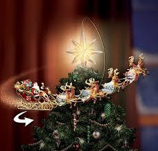 Lighted Globe Led Revolving Tree Topper Revolving Christmas Tree Topper Santa Reindeer Sleigh Light