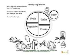 Small Picture Holidays 11 Kids My Plate and Thanksgiving Food Matching and