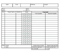 Free Football Stat Sheet Template Excel Flag Score U2013 Getpicks
