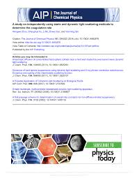 Dynamic Light Scattering Method Pdf A Study On Independently Using Static And Dynamic Light