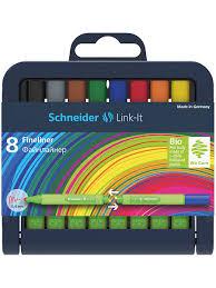 <b>Ручки капиллярные</b> (линеры) <b>Schneider</b> Link-It, 8 штук, толщина ...