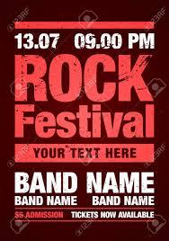 Concert Poster Design Vector Illustration Rock Concert Retro Poster Design Template