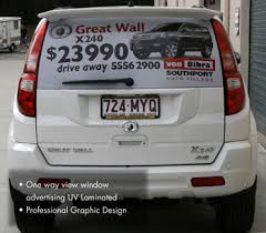 Car Rear Window Stickers Customised Window Decals Brisbane Eco