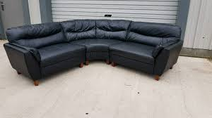 black leather corner sofas couches suite can deliver in southside glasgow gumtree