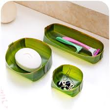 banana leaf design home storage trays cosmetic desk pen box kitchen office bathroom makeup organizer conner