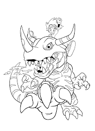 Free Digimon Coloring Page Digimon Coloring