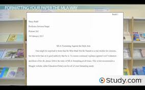what is mla format video lesson transcript com sample mla style paper