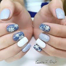 35 pretty snowflake nail designs ideas