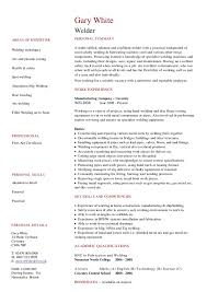Welder Resume Examples Delectable Welder Cv Targer Golden Dragon Co Shalomhouseus