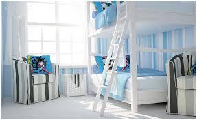 Blue white stripe boys bedroom   Interior Design Ideas.