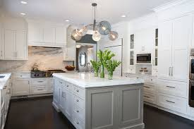 kitchens with white cabinets and dark floors. Kitchen - Large Transitional U-shaped Dark Wood Floor And Brown  Kitchen Idea In Kitchens With White Cabinets Floors T