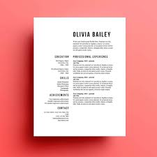 Simple Resume Template Simple Resume Templates 24 Examples To Download Use Now 7