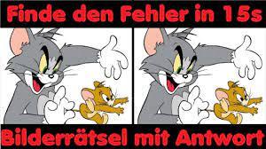 Bilderrätsel - Bilderquiz mit Tom & Jerry - Gehirnjogging - Visueller IQ...  | Bilder rätsel, Bild quiz, Bilderrätsel