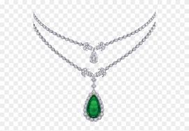 cabochon emerald and diamond pendant