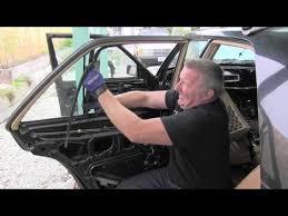 mercedes w124 removing rear door window glass