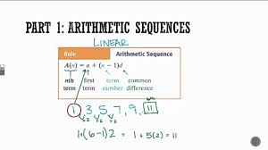 algebra 1 arithmetic geometric sequences
