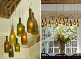All Bottles in a Row Can you believe that this is a DIY? Wine Bottle  LightingBottle ...