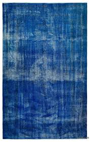 blue over dyed turkish vintage rug 5 7 x 8 10 67 in x 106 in