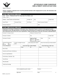 Employment Verification Return Form Housing New York City Authority ...