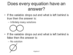 does every equation have an answer