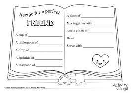 friendship recipe template. Friendship Pie Recipe Template Recipe Writing Frames And Printable
