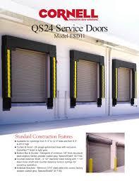 QS24 Service Doors - Technical Sheet - Cornell - PDF Catalogues ...