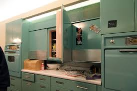 an entire kitchen of original ge metal cabinets milestone mid century modern subdivision on missouri s national