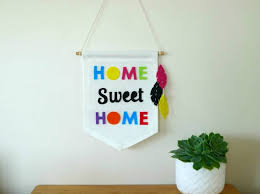 home sweet home wall banner flag sign wall hanging ready
