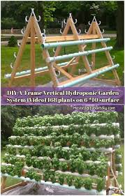 how to build a hydroponic garden. diy a-frame vertical hydroponic system garden how to build a o
