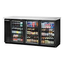 true tbb 24 72g hc ld glass door back bar cooler stocked