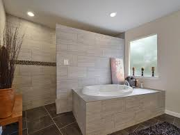 Contemporary Master Bathroom With Slate Tile Floors  Master - Contemporary master bathrooms