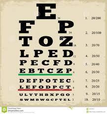 Vintage Eye Chart Light Box Vintage Style Eye Chart Stock Vector Illustration Of