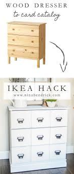hack ikea furniture. diy wood dresser card catalog ikea hack tutorial ikea furniture