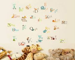 alphabet letters in animals decal