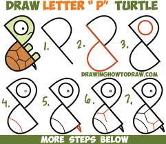 Small Picture How To Draw Cartoon Turtle W Coloring Pages Painting Books