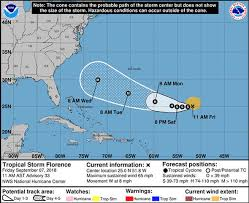 Hurricane Tracking Chart Florence Hurricane Florence Tracker Florence To Restrengthen