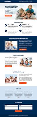 converting insurance lead generation landing page design templates money saving life insurance quote cta and lead