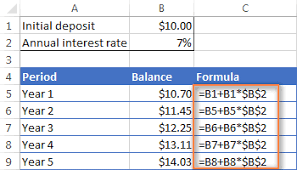 daily interest calculator excel compound interest formula and calculator for excel
