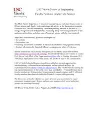 USC Viterbi School of Engineering Faculty Positions in Materials ...