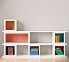 modular storage shelves using supawood par pine and masonite backing board splash of colour