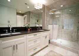 white bathroom cabinets with granite. Black Granite Top Over White Bathroom Vanity Cabinets With T